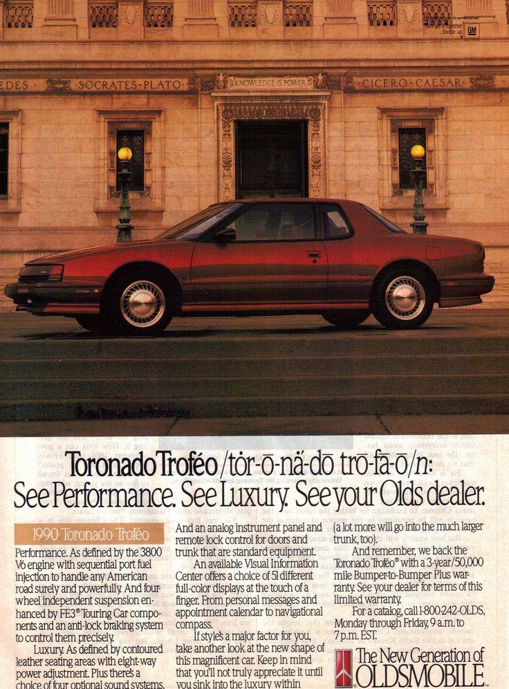 1990 Oldsmobile Toronado Troféo Ad
