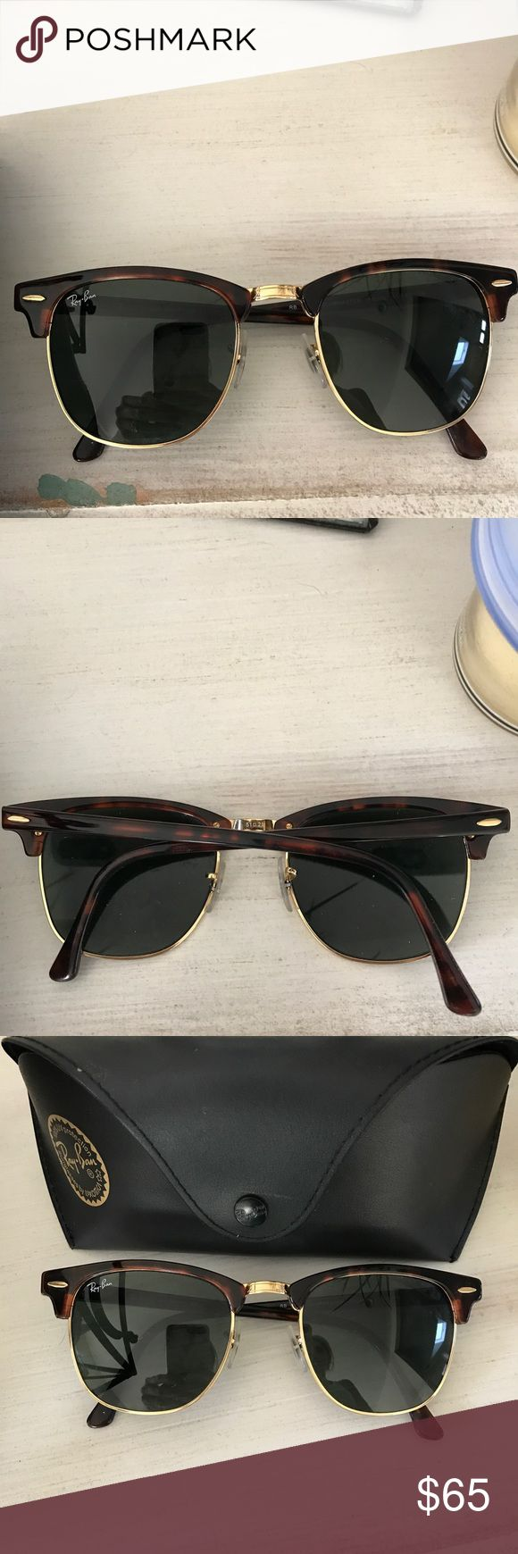 Rayban club master sunglasses Worn a few times..no scratches or signs of wear ..look brand new Ray-Ban Accessories Sunglasses