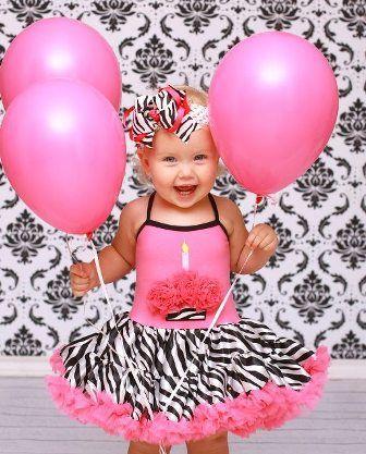 Pink Zebra Birthday Cupcake Petti Dress