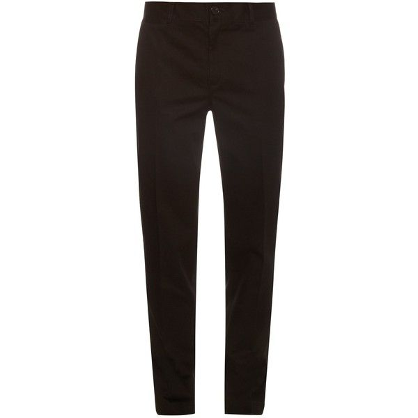 Givenchy Cotton-twill chino trousers ($360) ❤ liked on Polyvore featuring men's fashion, men's clothing, men's pants, men's casual pants, black, mens slim pants, mens chinos pants, mens slim fit chino pants, mens slim fit pants and mens chino pants