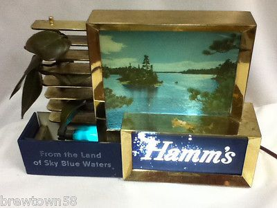 Hamms beer sign light lake scene lighted bar topper #hamm's #vintage #water xs8,  View more on the LINK: 	http://www.zeppy.io/product/gb/2/191760864672/