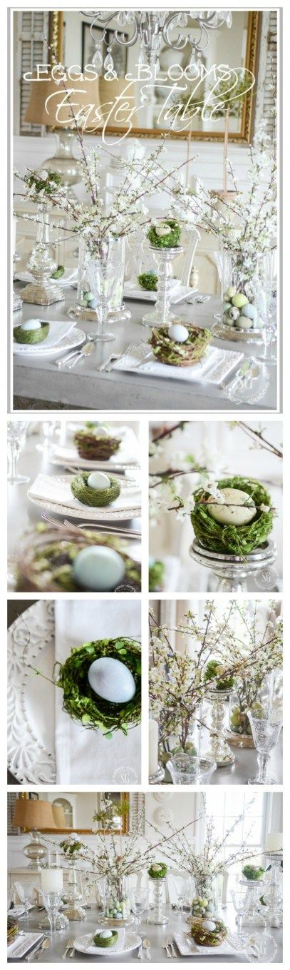 EGGS AND BLOOMS EASTER TABLE- Using the bounty of the spring season to set a memorable Easter table