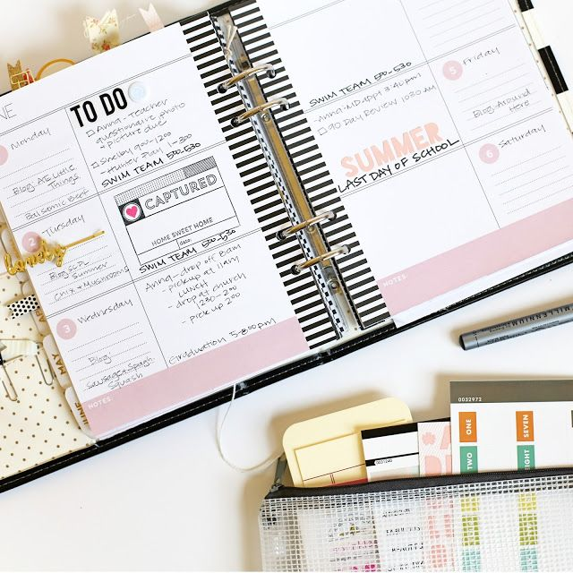 Inside planner pages made easy by Stephanie Bryan using the @heidiswapp Memory Planner