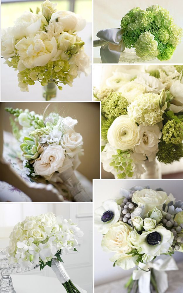 Green and White Wedding Flowers