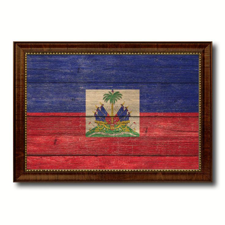 Haiti Country Flag Texture Canvas Print, Custom Frame Home Decor Gift Ideas Wall Decoration