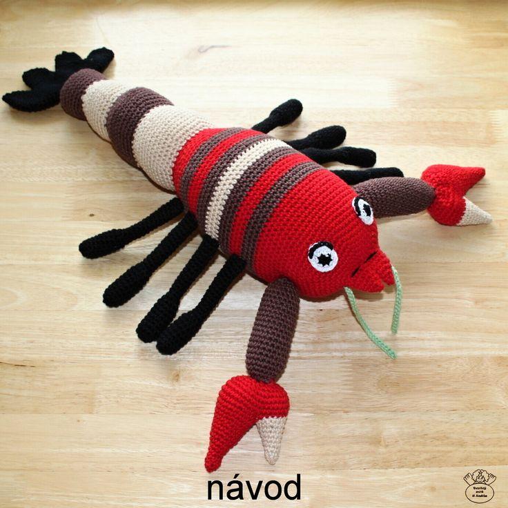 Rak Pepík/Crayfish Návod na háčkování/Guide to crochet