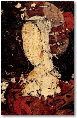 Manolo Valdes - Retrato Con Tocado Rojo - 1996