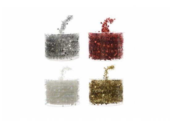 Christmas Tinsel Garland with Stars mt 7