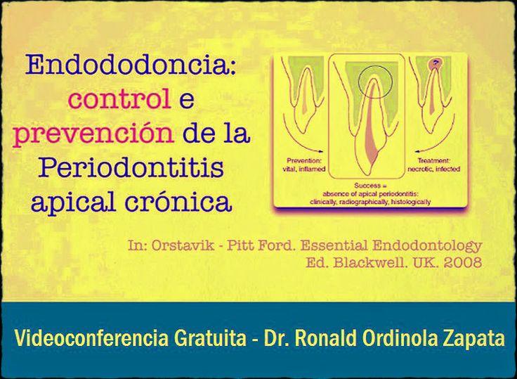 Videoconferencia: Anatomía Endodóntica, control y prevención de la periodontitis apical crónica - Dr. Ronald Ordinola Zapata   Odonto-TV