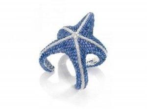 gioielli estivi marini de grisogono anello stella marina diamanti zaffiri blu