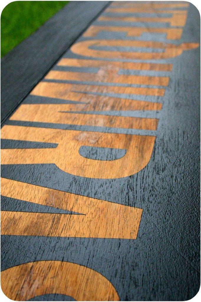 Reverse Stencil Tutorial On Blog. Wood Grain Shows Through Where You Put  Down Decals.