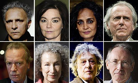 A stand for democracy in a digital age: eight of the people who have signed the letter: Hanif Kureishi, Björk, Arundhati Roy, Don DeLillo, Ian McEwan, Tom Stop...