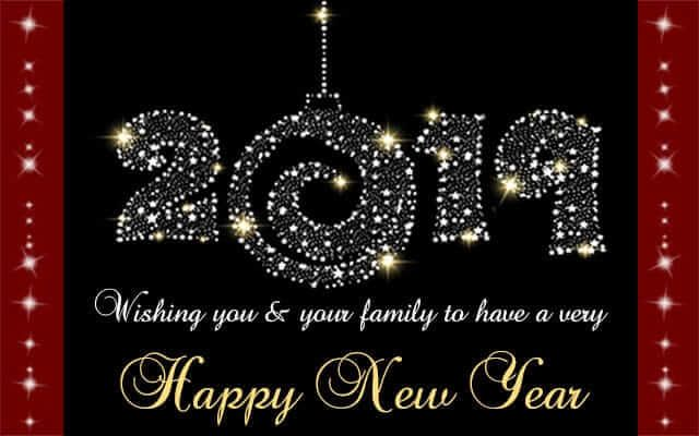 New Year Greeting Card Image 2019 Golden Happy New Year Gif Happy New Year Images Happy New Year 2019