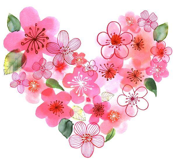 Margaret Berg Art: Blossoms Heart