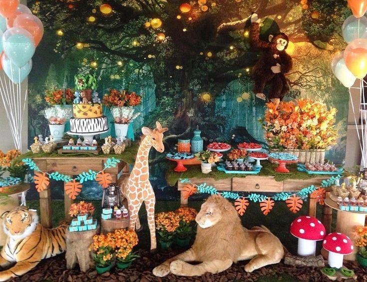 Jungle safari themed birthday party ideas kids party ideas pinterest themed birthday - African american party ideas ...