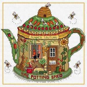 LJT127 The Potting Shed | Lesley Teare Needlework and Cross Stitch Chart Designs