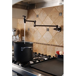 I have to get one of these.  Fontaine Transitional Style Pot Filler Faucet