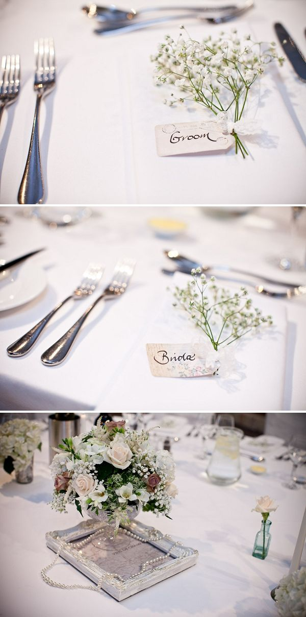 Baby's Breath for place names - love it Daisies n baby's breath alternating? Luggage tags?