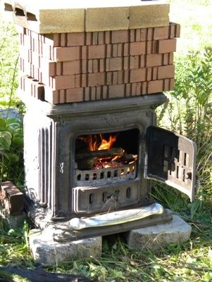 Homemade Pottery Kiln Plans .....uh, why haven't I heard of this before? I have an old wood stove!