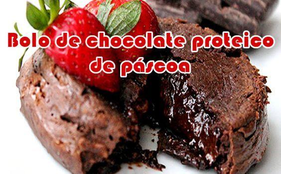 Como fazer bolo de chocolate proteico para a páscoa #receitas #receitasproteicas #receitasanabolicas #fitness #academia #dieta