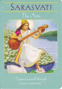 Saraswati in Goddesses Guidance Oracle Cards by Doreen Virtue