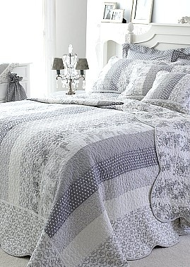 Gray quilt http://idea.....so pretty, much more so than I would have thought.