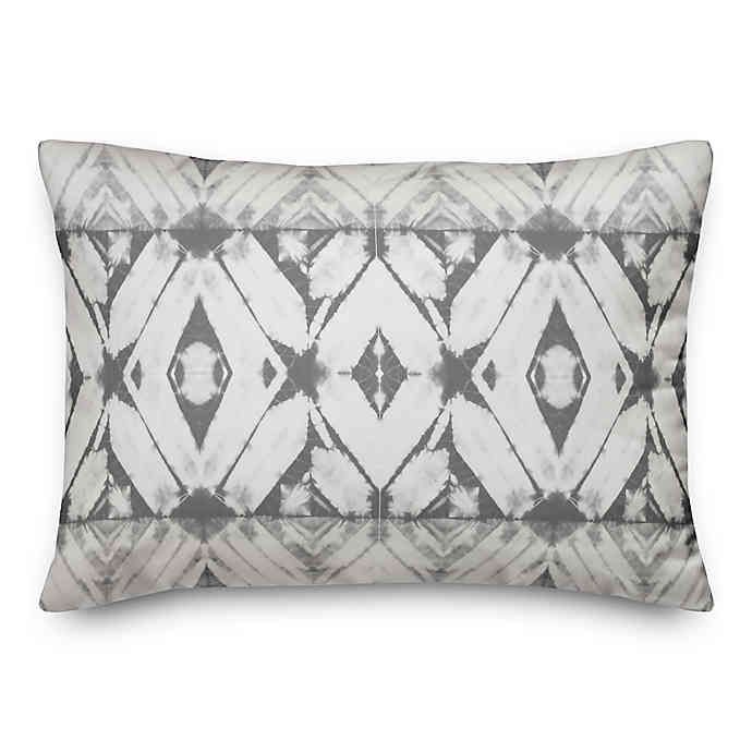 Designs Direct Shibori Oblong Outdoor Throw Pillow In Grey In 2020