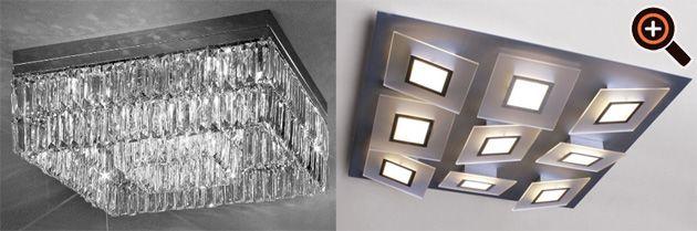 Lampe Wohnzimmer – moderne Beleuchtung mit LED – Deckenleuchten