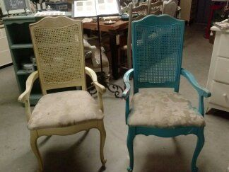 Great Reloved Rubbish: Vintage Cane Back Dining Chair Set