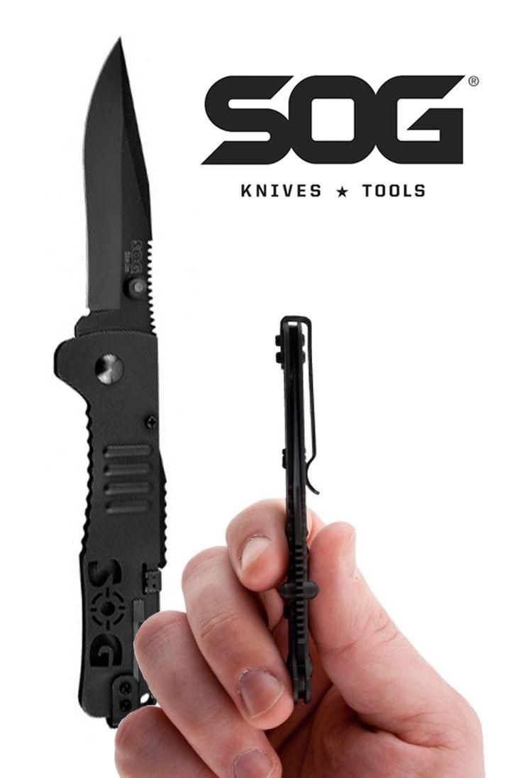 """SOG Slim Jim: 3.18"""" assisted folding knife"""