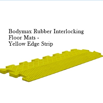 I just love the Bodymax Yellow Rubber Interlocking Floor Mat Edge Strip for it's got the textured anti-slip rubber matting and great durability: http://www.menshealthstore.co.uk/Bodymax-Rubber-Interlocking-Floor-Mats-Yellow-Edge-Strip/lid/11341