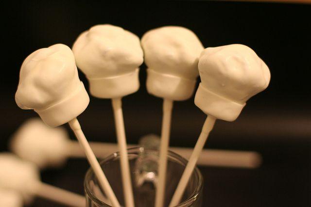 chef hat cake pops | Custom Chef's Hat cakepops | Flickr - Photo Sharing!