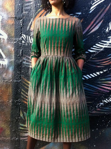 [Concours] Emery Dress en Wax par La Waxeuse - thread&needles