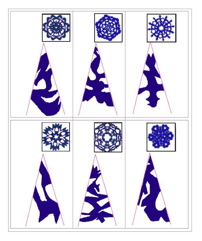 Новогодние рисунки из бумаги схемы