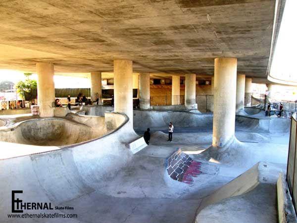 Image result for skateparks under bridges