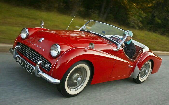 Triumph TR-3 Roadster.                                                                                                                                                                                 More