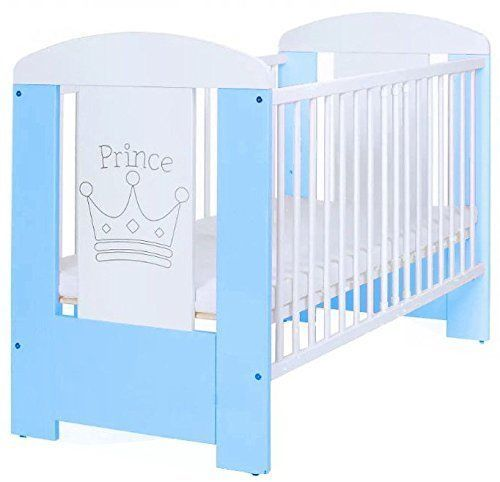 Baby Cot Bed Mattress Wooden Cotbed Teething Rails Nursery Infant Adjustable NEW #na