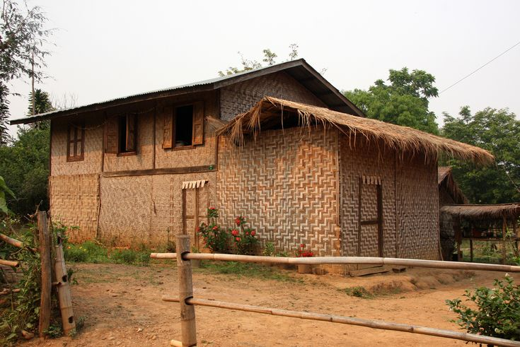 Traditional house near Kyaukme, Shan State,  Burma