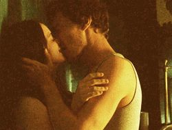 Here is Benedict kissing. You know, for reasons.  (clicky for .gif) I think this is my favourite Ben kiss! Maybe it's the vest…  I AM SO TURNED ON RIGHT NOW I NEED A COLD SHOWER