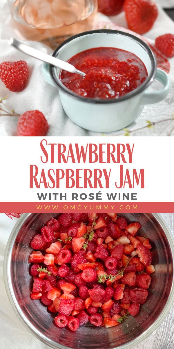 Strawberry Raspberry Jam with Rosé Wine, developed in memory of my son Gregory, will wow your palate and eyes with deep…