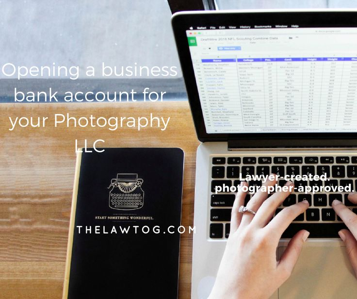 opening a business bank account for your photography llc - Account Technology