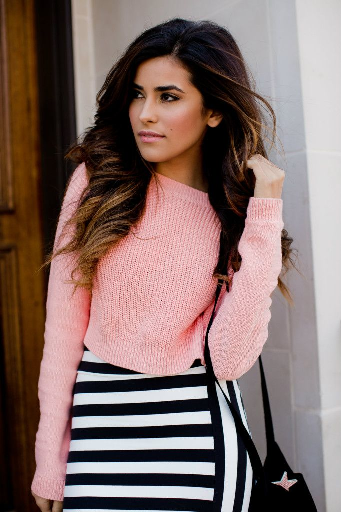 stripes, fashion, style, outfit, inspiration, sweater, spring style, skirt, bebe, 2014, blog, sazan, barzani, blogger, what is fashion, fore...