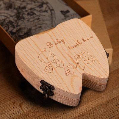 Caja para guardar dientes de leche #regalos #regalosniños  https://www.regalosychollos.com/regalos-originales/caja-de-madera-para-guardar-dientes-de-leche/