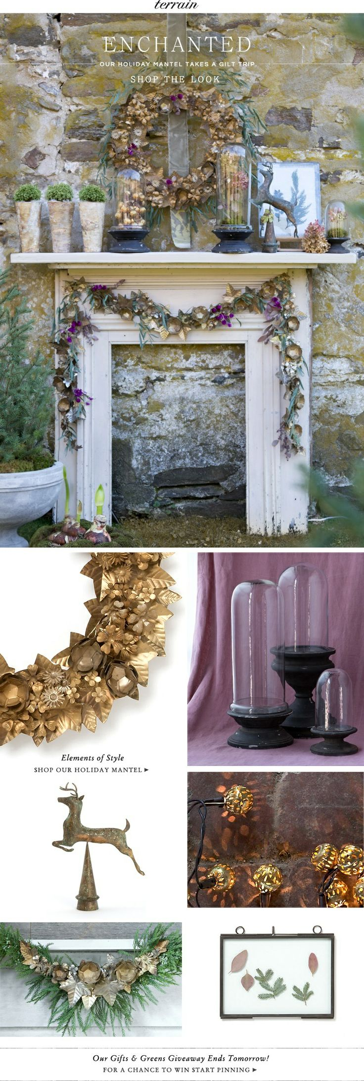 Our enchanted mantel takes a gilt trip.