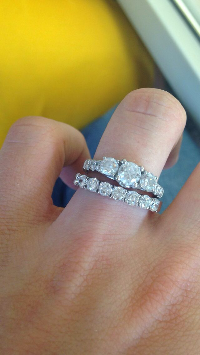 co wedding p built item rings engagement shane diamond banded set three matching triple band round