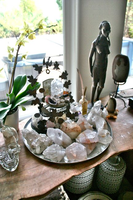 Anahatas Home A Tray Of Crystal