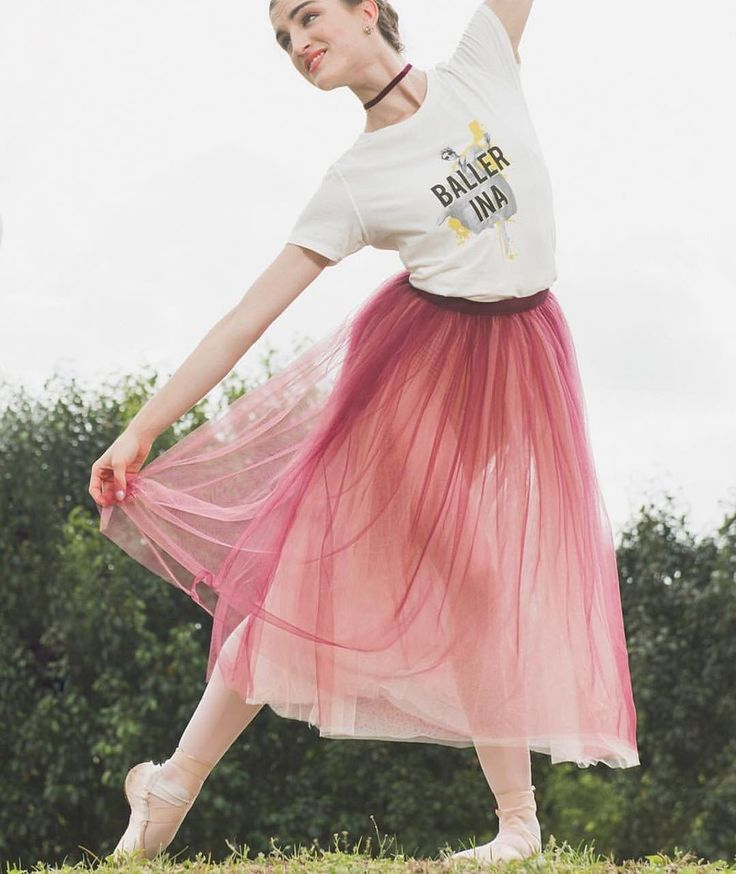 Good morning #PrimaFriends 100% ballerina, 200% baller.  Basic #balletfacts. #Ballet_beautie #sur_les_pointes  Joy Womack being a baller in our organic cotton Baller-ina tee and Italian tulle skirt in Rich Plum/Blush. Available at cloudandvictory.com  Photo by @cloudandvictory  #joywomack #projectprima #kremlinballet #russianballet #gaynorminden #gaynorgirlPRO #ballet #dance #primafriends #primaballerina #worldwideballet #loveofballet #futureofballet #русскийбалет #балет #inspiration…
