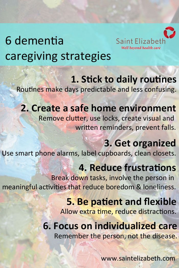 Six Tips for Dementia and Alzheimer's Care at Home (full article) #Alzheimers #dementia #caregiving http://www.saintelizabeth.com/Health-Info/Health-Resources/Dementia-and-Alzheimers-Disease/Six-Tips-for-Dementia-and-Alzheimer-s-Care-at-Home.aspx