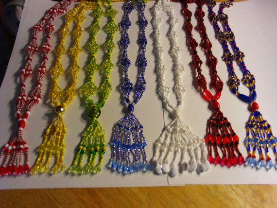 Santeria cubana.  Small  mazo necklace for Orishas. Collar de mazo para  Orisha. Cuba #EasyNip