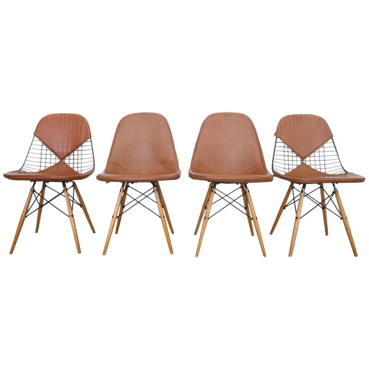 108 best images about leather dining chairs on pinterest for Leather eames dining chair